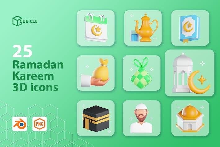 Cubicle - Ramadan Kareem 3D Icons