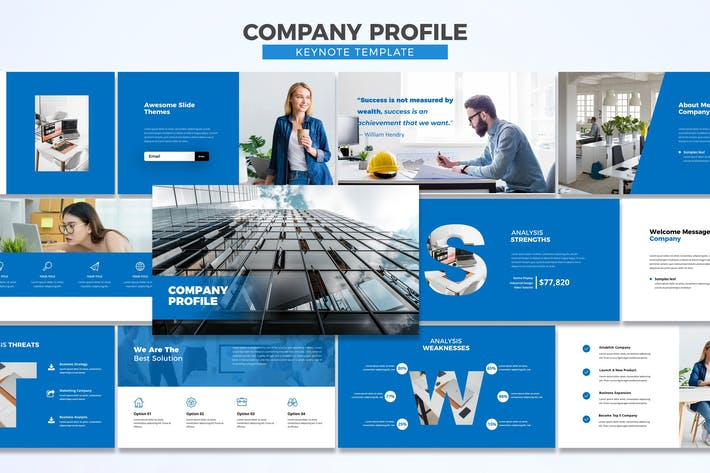 Cover Image For Профиль компании - Шаблон Keynote