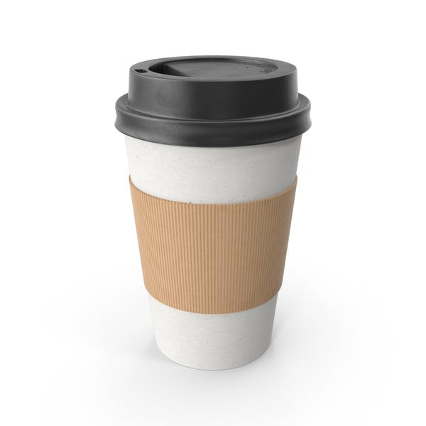 Thumbnail for Paper Coffee Cup Black Lid