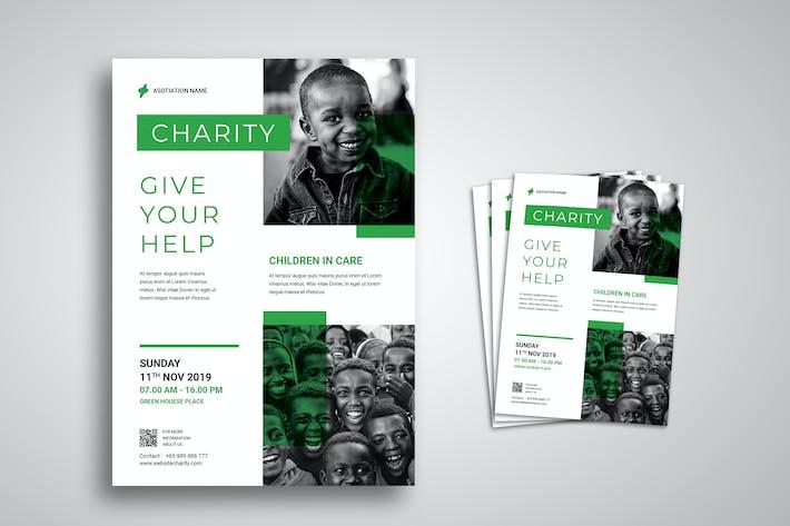 Thumbnail for Modèle Promo de dépliant de charité