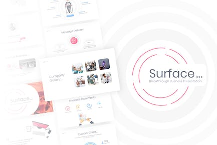 Surface - Business PowerPoint Template