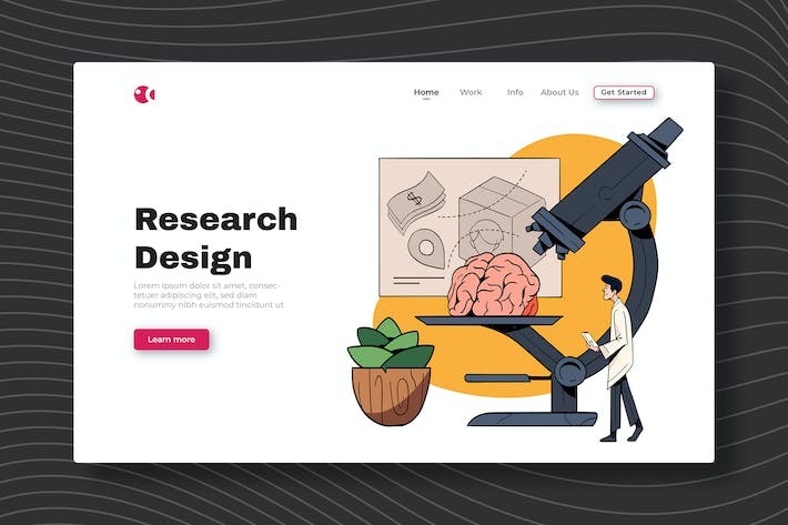 Research Design - Landing Page