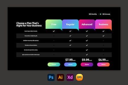 Black – Pricing Table Design