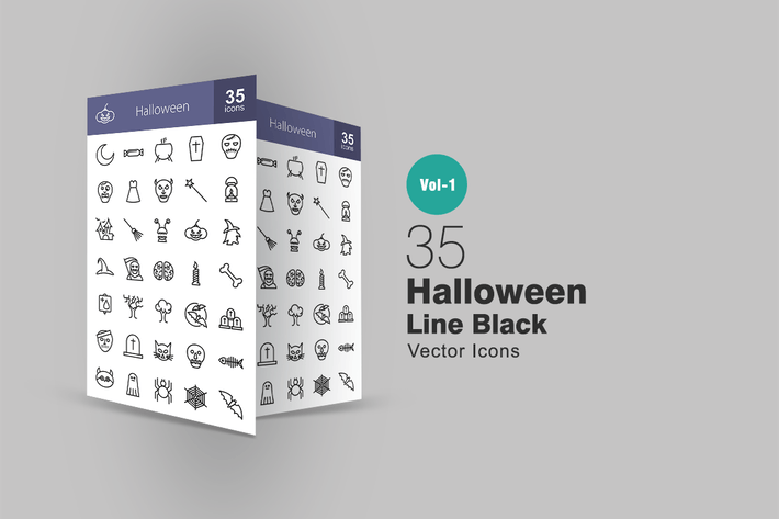 Thumbnail for 35 Halloween Line Icons