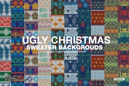 Hässliche Weihnachten Pullover Hintergründe