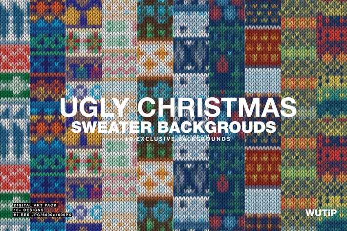 Christmas Sweater Background.Ugly Christmas Sweater Backgrounds By Wutip On Envato Elements