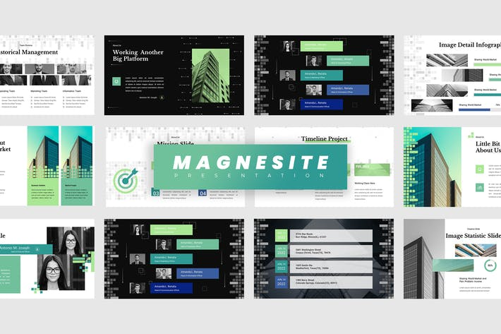 Thumbnail for Magnesite - Pitch Deck Keynote Presentation