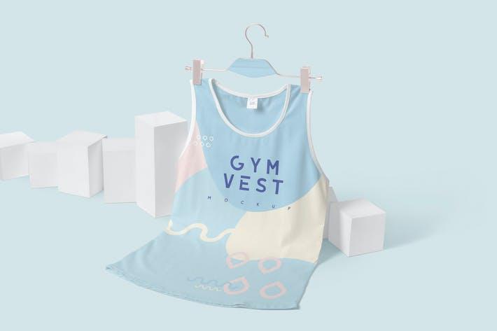 Thumbnail for Ärmellose Gym Weste Mock-ups