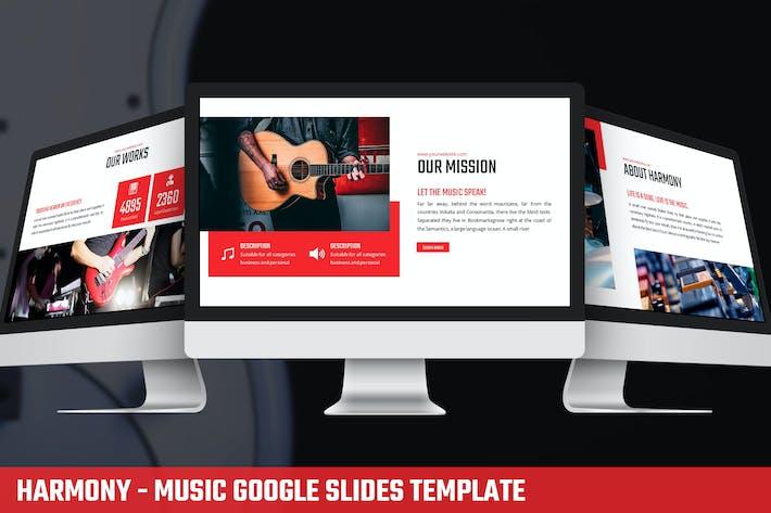 Thumbnail for Harmony - Music Google Slides Template