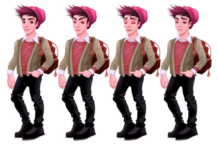 Thumbnail for Boy with Different Expressions