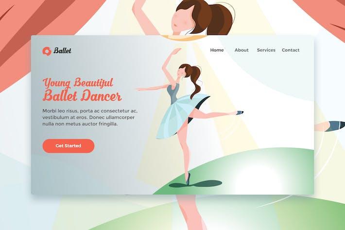 Thumbnail for Jeune belle danse de ballet Modèle web