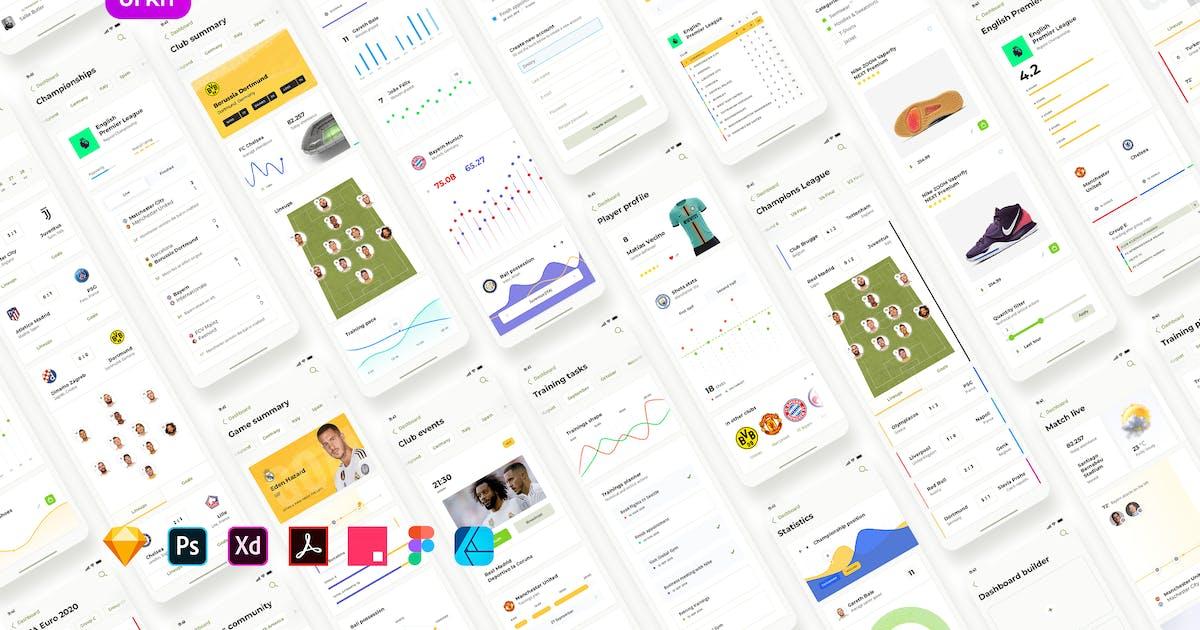 Download Soccer mobile app – Light UI by merkulove