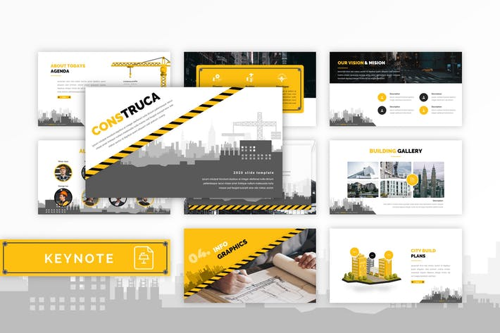 Thumbnail for Construca - Construction Keynote Template