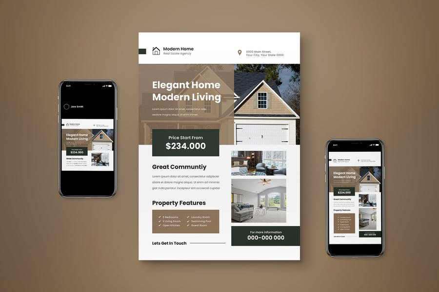 Modern Real Estate Flyer Set