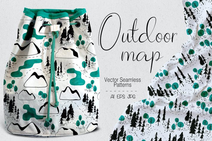 Thumbnail for Outdoor map seamless patterns
