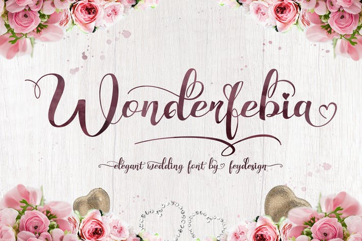 Thumbnail for Wonderfebia - Tipo de letra Boda