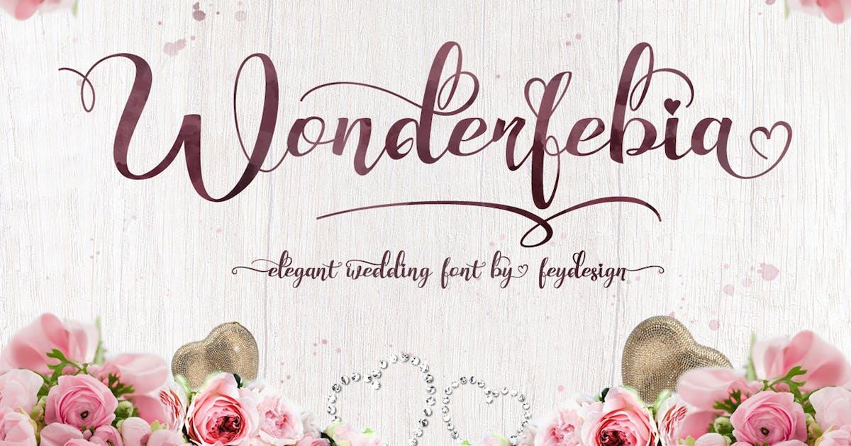 Download Wonderfebia - Script Wedding Font by Voltury