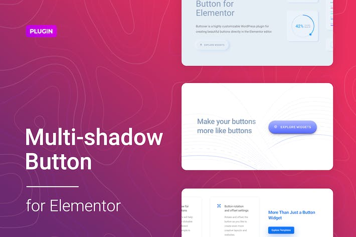 Thumbnail for Multi-shadow Button for WordPress