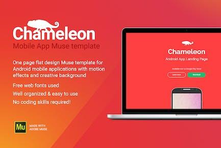 Хамелеон - Android Приложение Промо сайт Муза Шаблон