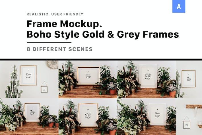 Thumbnail for Frame Mockup Boho Style