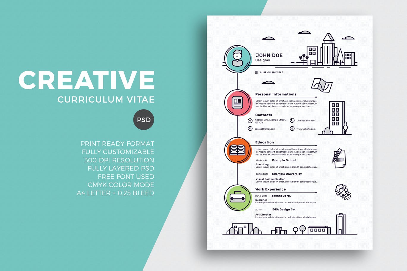 creative resume cv template by eightonesixstudios on envato elements