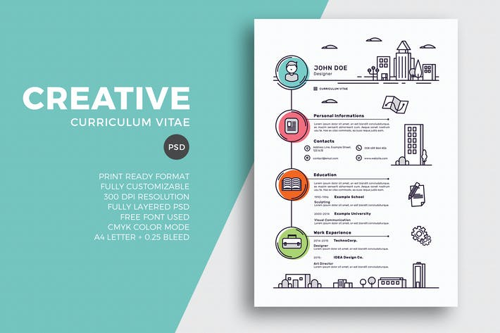 cover image for creative resume cv template