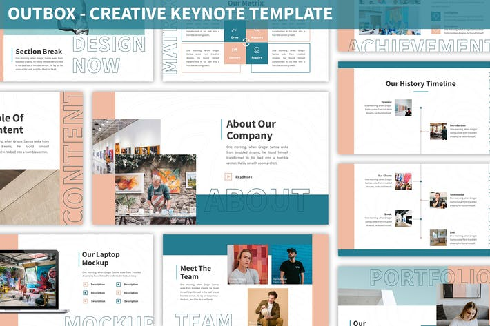 Thumbnail for Outbox - Creative Keynote Template
