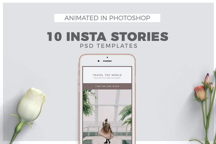 Thumbnail for Minimal Animated Instagram Stories Templates