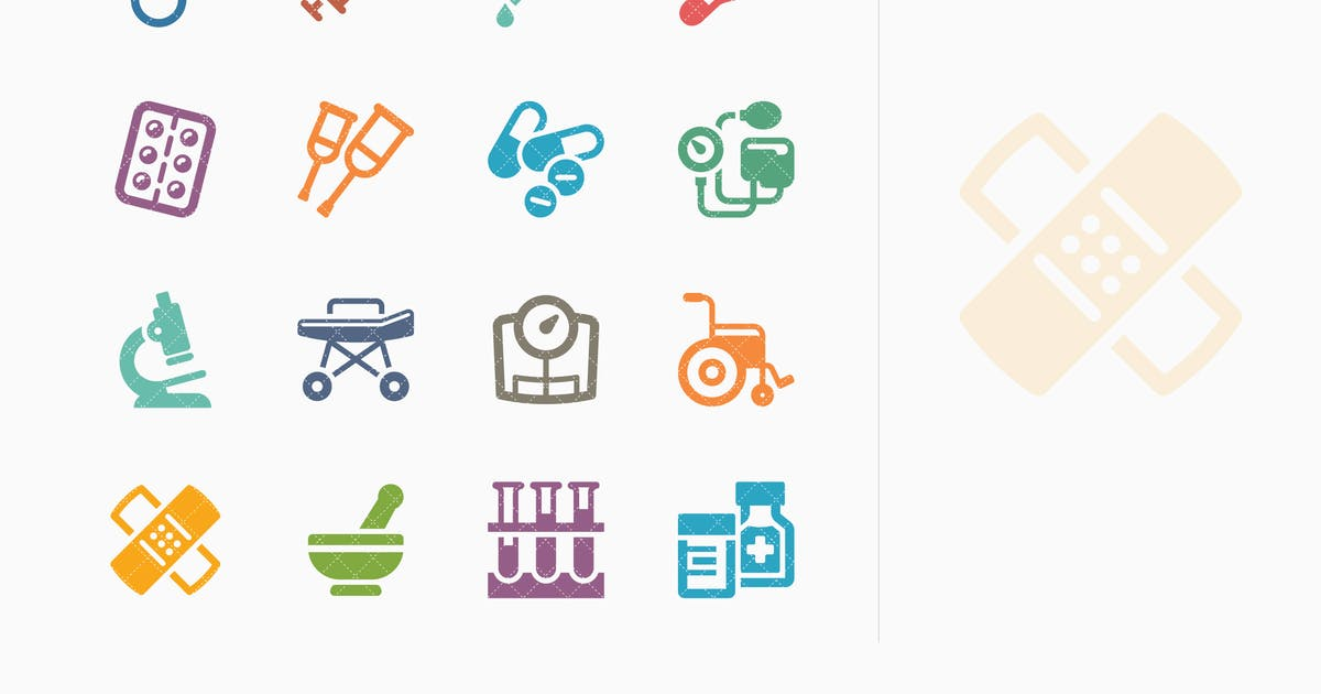 Download Colored Medical Equipment & Supplies Icons - Sympa by introwiz1