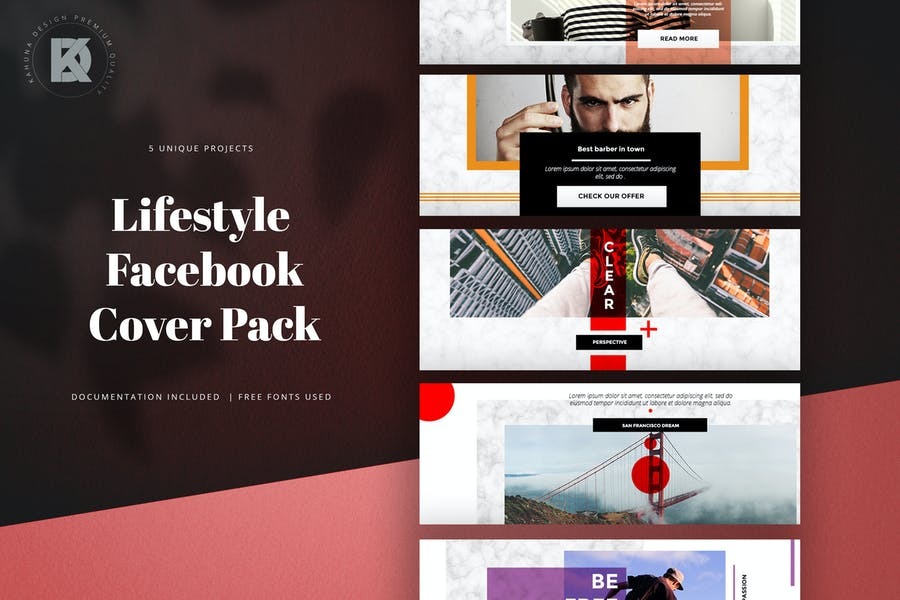 Lifestyle Facebook Cover Pack