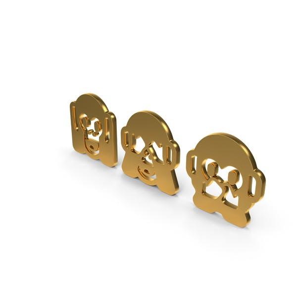 Drei weise Affen Icon