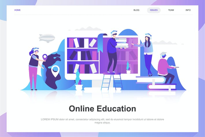 Thumbnail for Online Education Flat Concept
