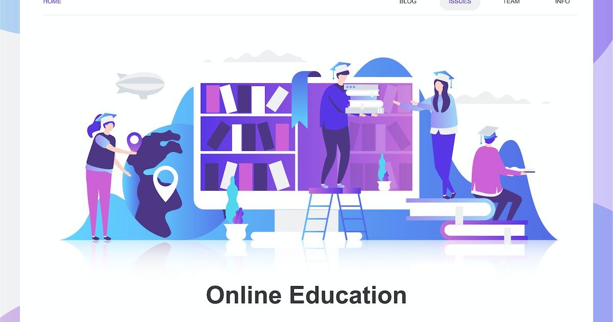 Download Online Education Flat Concept by alexdndz