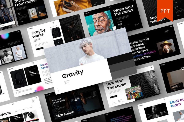 Thumbnail for Gravity – Business PowerPoint Template
