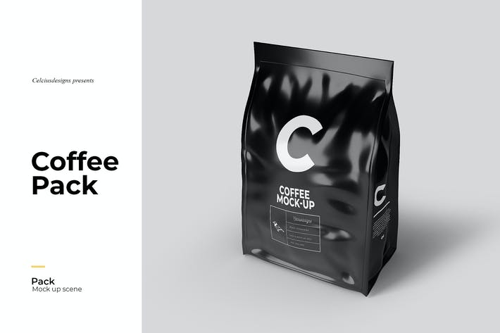 Coffee Pack Mock Up