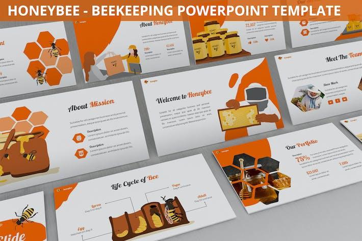 Thumbnail for Мёд - пчеловодство Powerpoint Шаблон