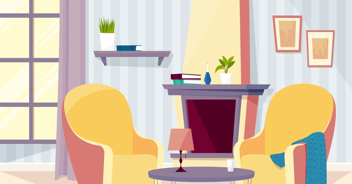 Download Old People's Room - Illustration Background by motion_party