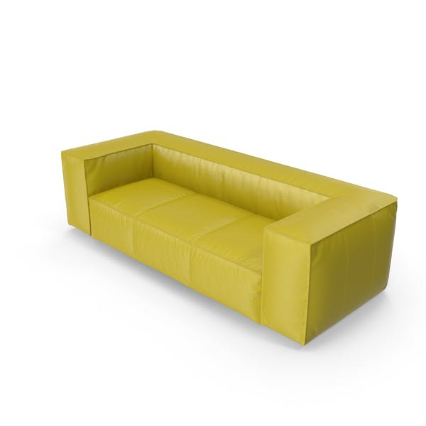 Cover Image for Chartreuse Leather Sofa