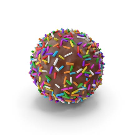 Schokoladenkugel mit farbigen Pops