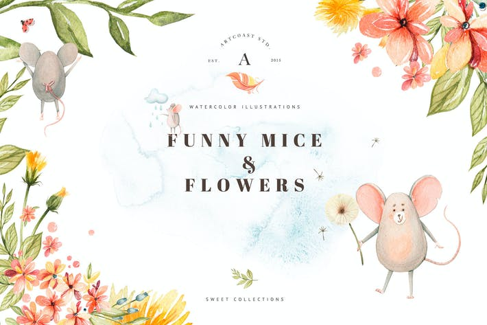 Thumbnail for Funny Little Mice & Flowers