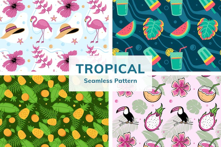 Thumbnail for Tropical Seamless Pattern