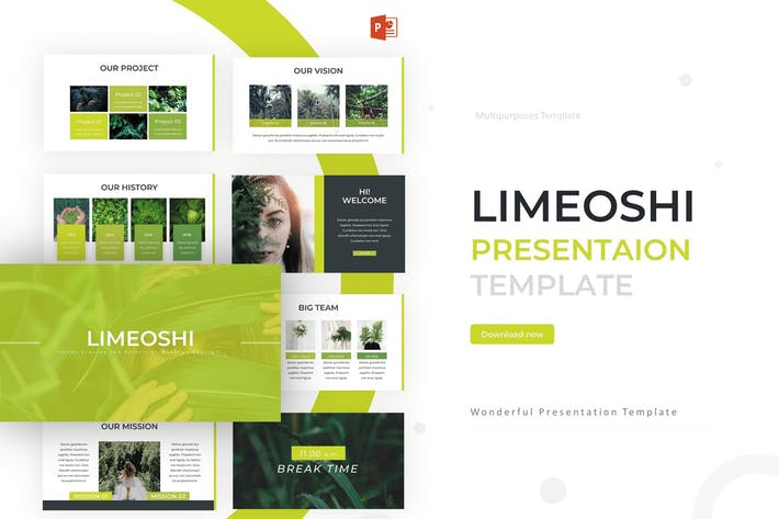 Thumbnail for Limeoshi- Powerpoint Template