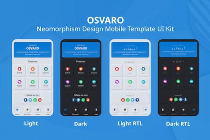 Osvaro - Neomorphism Design Mobile Template UI Kit