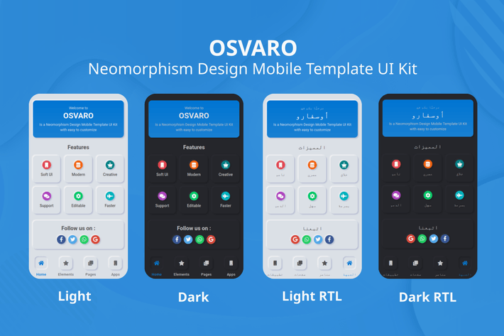 Thumbnail for Osvaro - Neomorphism Design Mobile Template UI Kit