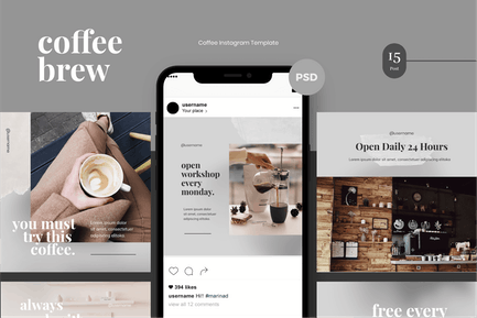 Coffee Brew Instagram Post Template