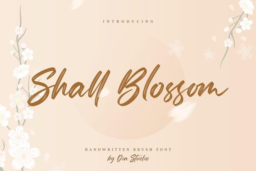 Shall Blossom-Lovely Brush Font