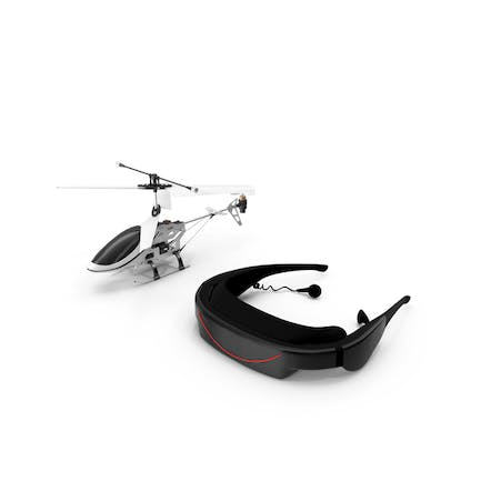 Helicopter with VR Headset
