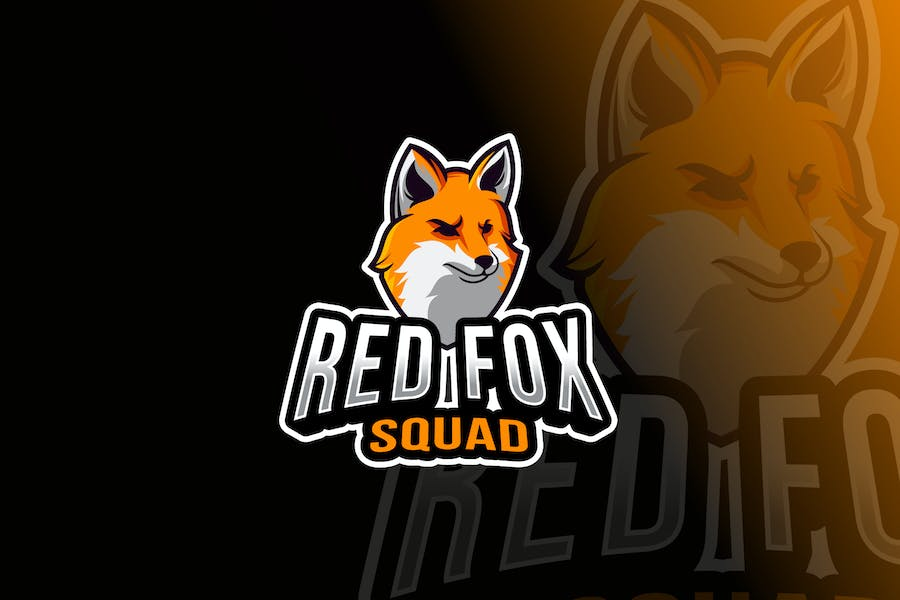 Red Fox Squad Logo Template - Design Template Place