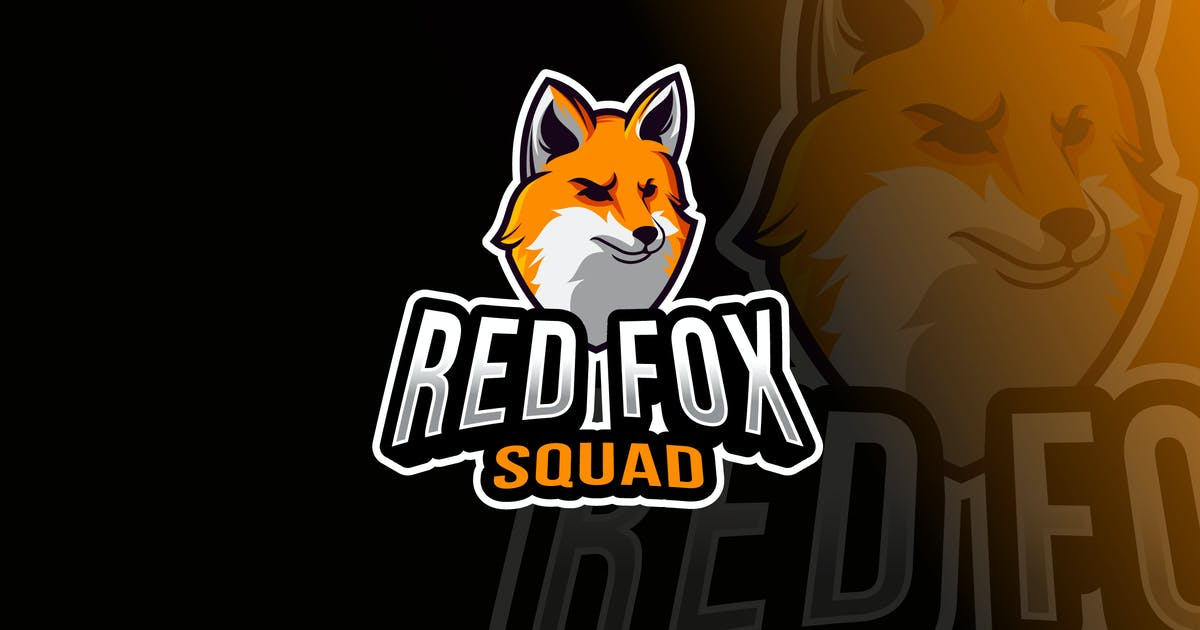 Download Red Fox Squad Logo Template by IanMikraz