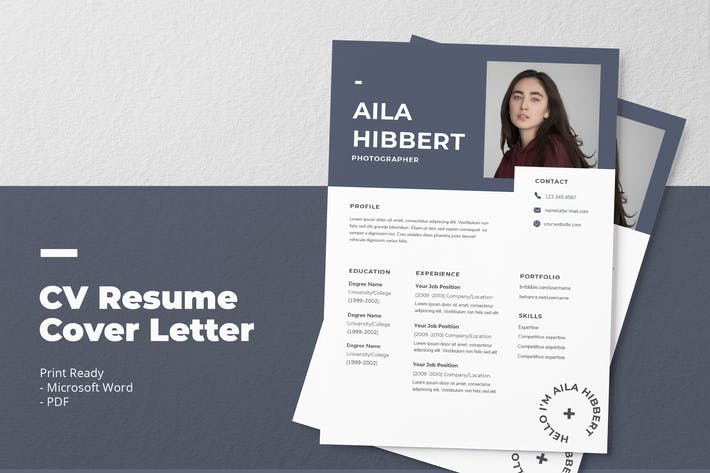 Thumbnail for Aila Hibbert - CV Resume Template